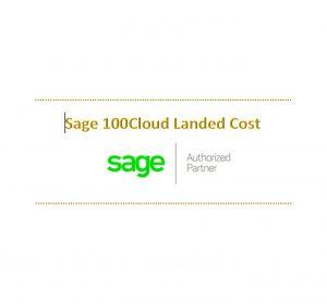 Sage 100 Landed Cost