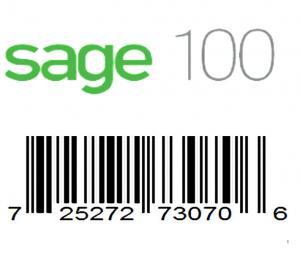 Sage 100 barcode