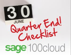 Sage 100 Quarter End Close Checklist, sage 100 quarter end
