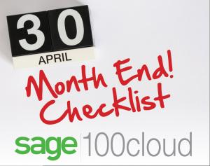 Sage 100 month end close checklist, How do I close the month in Sage 100, sage 100 month end, sage 100 check list