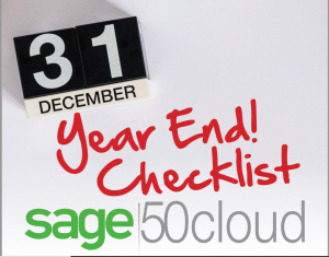 Sage 50 Year End Close Checklist