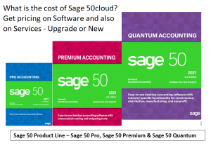 How much does Sage 50cloud Cost? Want to Learn the total cost of Sage 50cloud? – ask for package pricing to include Sage 50cloud company upgrade or data migration. Sage 50 Pricing is based on the number of users and version you select to purchase. Free Demo Compare Sage 50 versions and pricing from real world consultants. Learn about the latest features and upgrade costs from Previous Sage Peachtree. Free month end checklist and more with purchase.