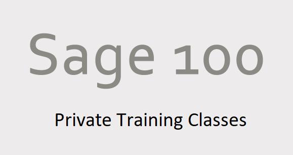 Sage 100 Training Classes